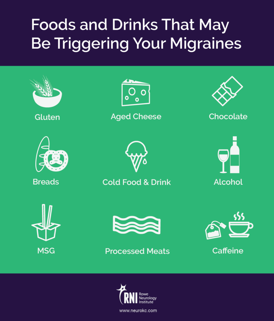 migraine headache triggers--common food and drink triggers